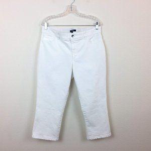Chaps White Stretch Capri Pants